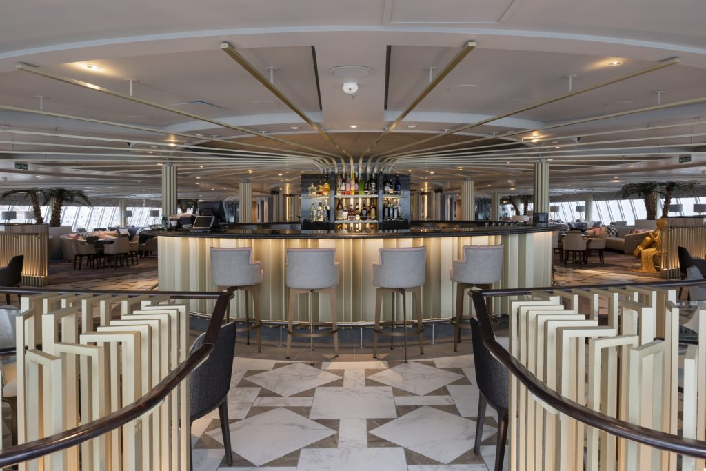 The Palm Court on board Crystal Serenity