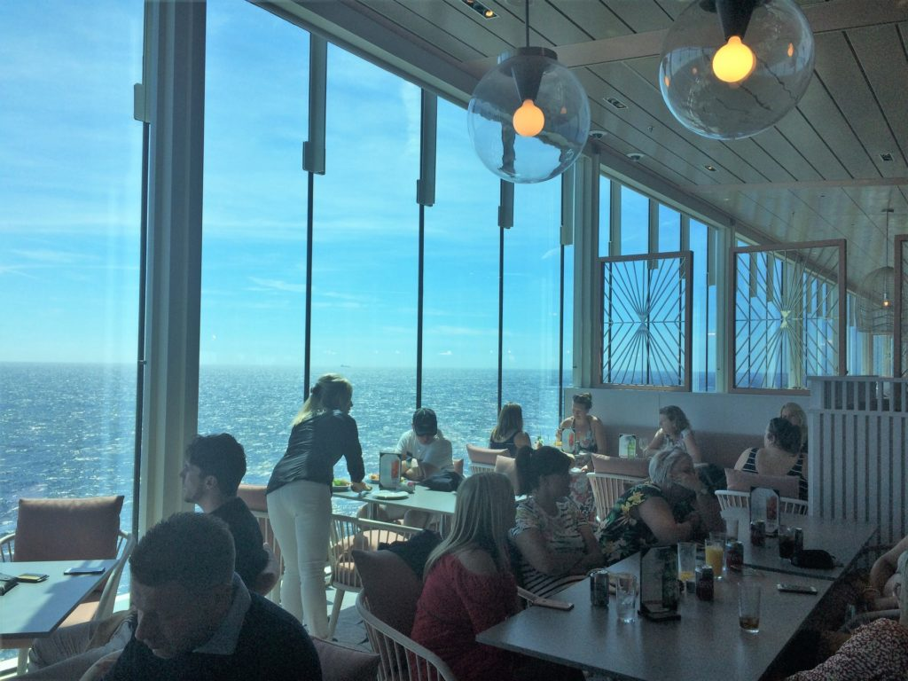 The Ocean View Cafe on board Celebrity Edge